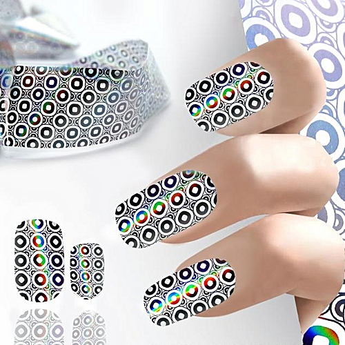 Buy Zlime Design Nail Art Foil Stickers Transfer Decal Tips Manicure