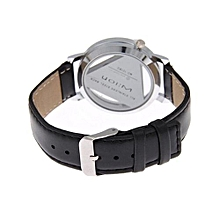 Fashion Watch Luxury Hollow Triangle Dress Watch Women Elegant Quartz Watch Lady Refinement Wristwatch(Black)