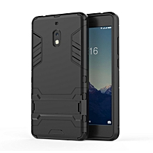 For Nokia 2.1 Case, Iron Hard Man Armor Dual Shockproof Bumper Full Body Stand Rubber Back Cover Case With Kickstand For NOKIA 2.1