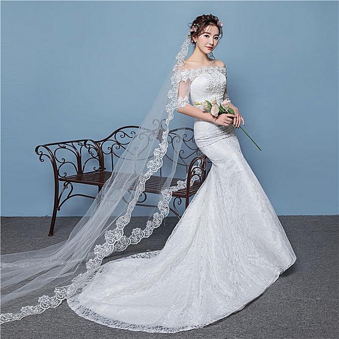 Afankara Chapel Train Wedding Dresses Designer Off Shoulder Bride