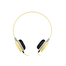 W3 Stereo Wired 3.5MM Headset Headphones - Yellow