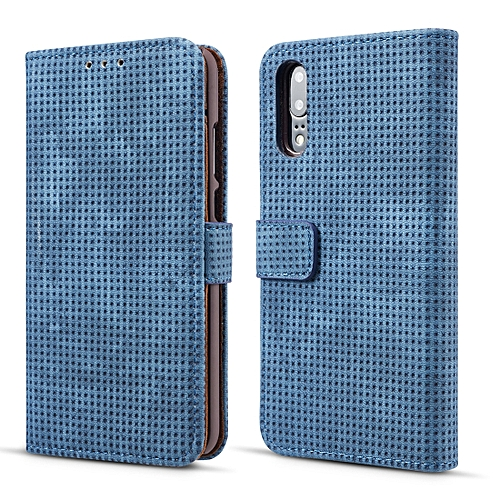 on sale 37eef 8bbe5 Retro Style Mesh Breathable Horizontal Flip Leather Case for Huawei P20  Lite, with Card Slot & Holder & Wallet (Blue)