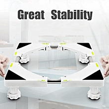 4 Foot Adjustable Washing Machine Refrigerator Undercarriage Bracket Base Stand