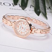Luxury Women's  LVPAI Wrist Watches  Women Watch Crystal Diamond Bracelet Stainless Steel Quartz Wrist Watch B-Gold