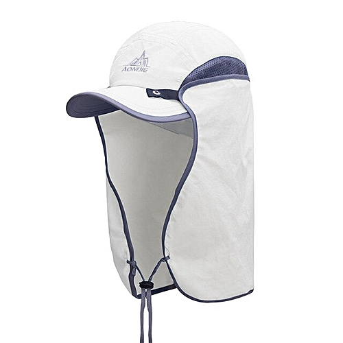 ee3b40a7d4bb7f AONIJIE E4089 Unisex Fishing Hat Sun Visor Cap Hat Outdoor UPF 50 Sun  Protection with Removable Ear Neck Flap Cover for Hiking(White)