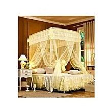 Mosquito Net With 2 Stands - 4x6- Cream