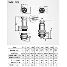 GX16-8 16mm 8 Pin Male & Female Wire Panel Connector Circular Aviation Connector Socket Plug