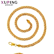XUPING  Necklace Fashion Ladies 24K Crystal Necklace- Gold