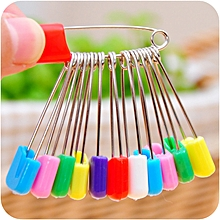 50pcs Large Colored Safety Pins Plastic Multipurpose Baby Stainless Steel Pins Needles 4cm