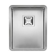 Ontario Single Bowl Sink - Square - 40cm x 40cm - Silver
