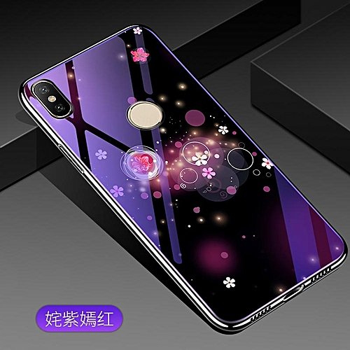 size 40 d267a 8b5da For Xiaomi Redmi S2 Lovely Cartoon Wolf Flower Blue Light Back Cover For  Xiaomi Redmi Y2 /S2 Anti-Explosion Tempered Glass Case Fundas 5.99inch  276345 ...
