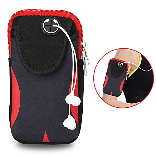 the latest f6e1e 60b90 Multi-functional Sports Armband Waterproof Phone Bag for 5 Inch Screen  Phone, Size: M(Black Red)