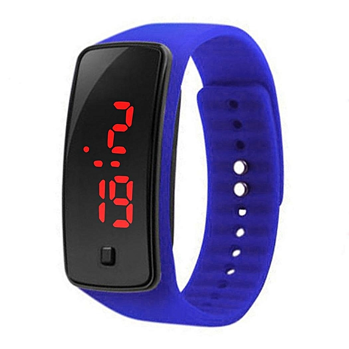 casual product orange t band digital led watch online slim men bracelet buy women jelly