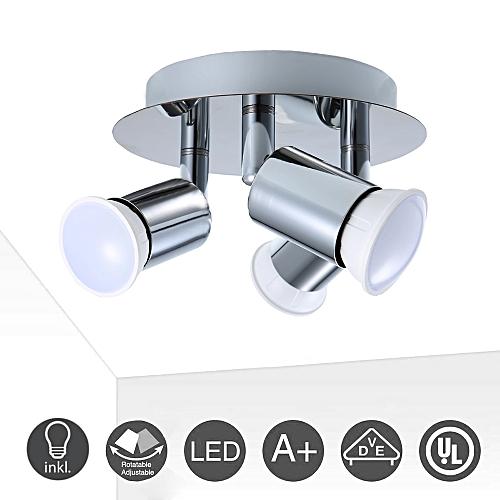 9w Indoor Ceiling Spotlight 3 Lights Modern Decoration Lamps Gu10 Rotatable Spotlights