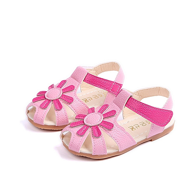 efe6c9795e Baby Girl Sandals Sunflower Sole Children Princess Sandals Shoes Beach -  Pink