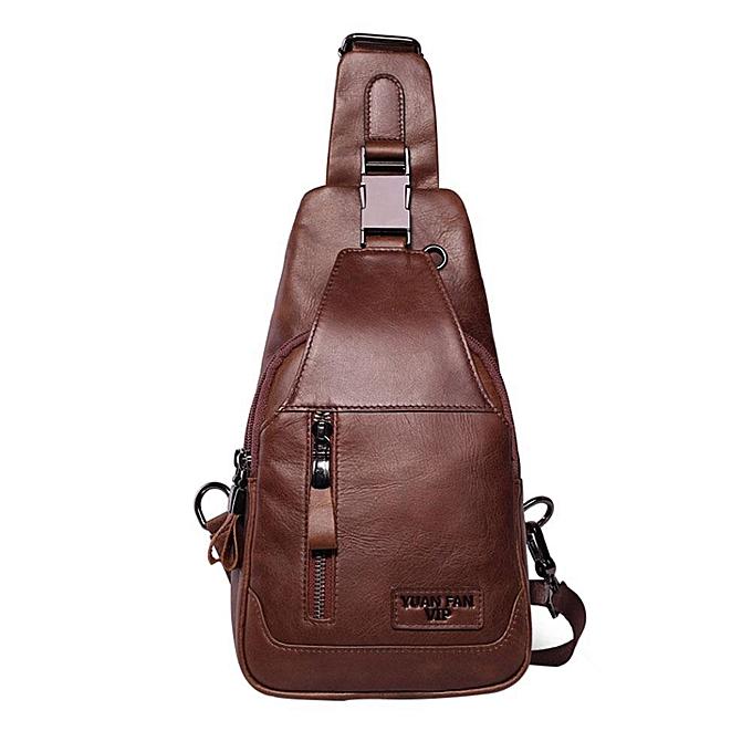 Men S Sling Bag Genuine Leather Chest Shoulder Bags Casual Messenger For Gymtravel Hiking School