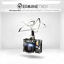 Eachine TX01 NTSC Super Mini AIO 5.8G 40CH 25MW VTX 600TVL 1/4 Cmos FPV Camera
