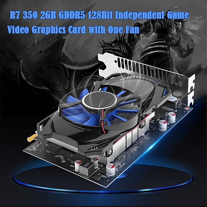 PUBG New R7 350 2GB GDDR5 128Bit Independent Game Video Graphics Card with  One Fan-black