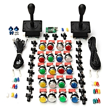 Game Kits 2pc Joysticks + 20pc LED Buttons USB Encoder Video Machine Player Part