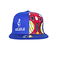 Royal Blue And Red Snapback Hat With Kelele Color On Panel