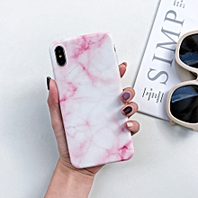 Full Coverage Glossy Marble Texture Shockproof TPU Case for iPhone XR