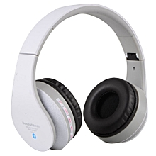 Fancytoy Stn-12 Wireless Bluetooth Headset Headphone With Micro Sd Card Slot Fm (White) (Color:As First Picture)