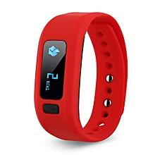 Bluetooth IP65 Sport Smart Watch Fitness Tracker - Red