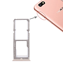 2 x SIM Card Tray + Micro SD Card Tray for OPPO A77(Rose Gold)