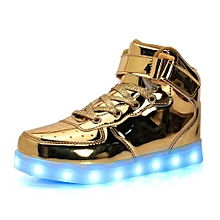 Gold LED Sneakers