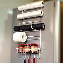 Refrigerator Side Storage Rack Space Saver Kitchen Storage Wrap Rack Organizer Fridge Accessories