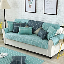 Nordic Style Magical Sofa-cover Corner Fabric Double Towel Non-slip Sofa Cover Set Slip Cover Sofa Cover#70 x 70cm Lake Blue