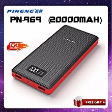 【Special Promotion】PINENG PN-969 PN969 20000MAH POWER BANK Powerbank 2k mah Dual Dekstop BGmall
