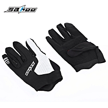 421269 Breathable Anti-slip Unisex Shock Resistant Outdoor Sports Full Finger Cycling Gloves L - Black
