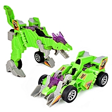 Electric Omnidirectional Deformation Dinosaur Chariot With Music Light Toys Gift