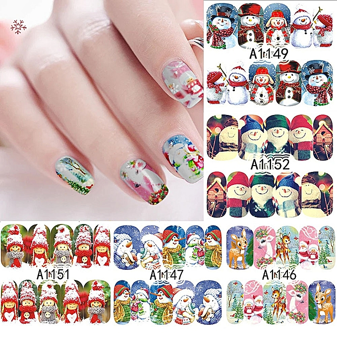 Buy Muyi 12 Sheets Full Wrap Nail Art Water Decals Stickers