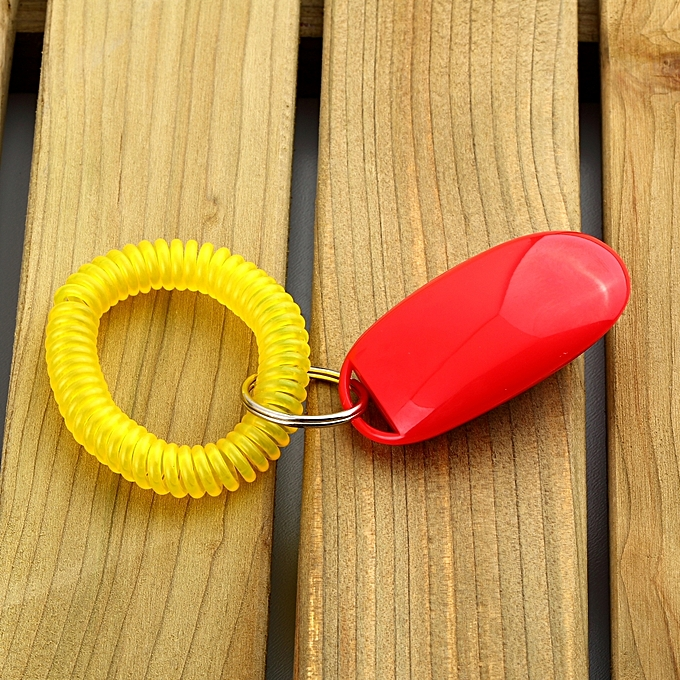 ... Dog Pet Click Clicker Training Obedience Agility Trainer Aid Wrist Strap red ...