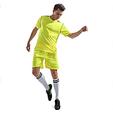 2018 Brand Customized Fashion Men's Football Team Training Soccer Jersey Set-Yellow