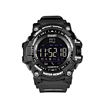 EX16 5ATM Waterproof Bluetooth4.0 Call SMS Reminder Compatibie With IOS/Android - Black Smart Watch