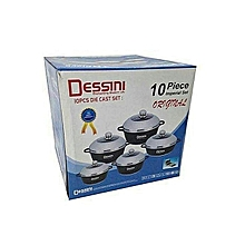 10 pcs Dessini cookware set