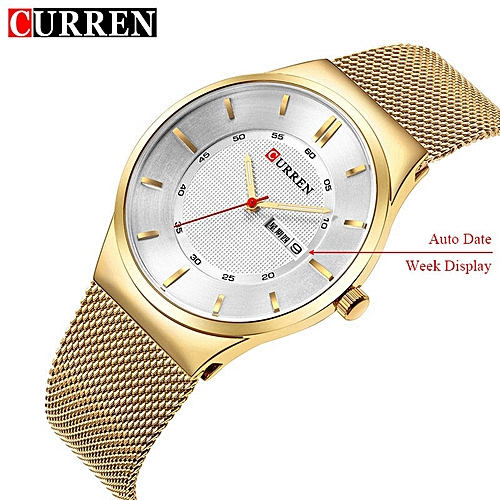 de6bfa527 CURREN Mens Watches Top Brand Luxury Quartz Mesh Stainless Steel Male Watch  Casual Auto Date Wristwatches Relogio Masculino 8311 AHFDY