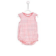 Pink and White Striped Fashionable Standard T-Shirt