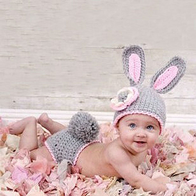 d97be327ba89f Braveayong Baby Newborn-9M Knit Crochet Minnie Cute Rabbit Clothes Photo  Outfits -Rabbit Children's