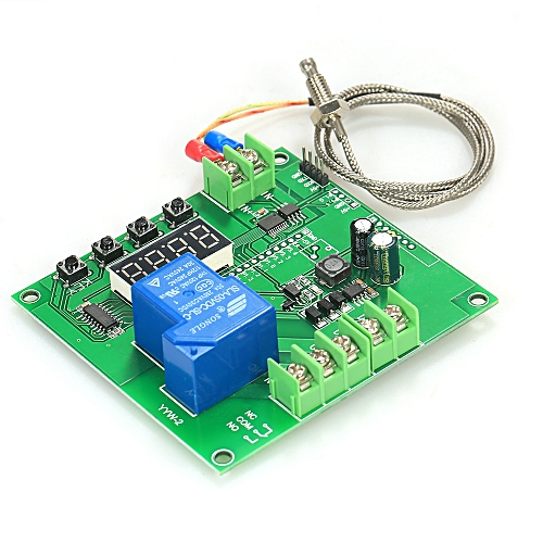 Mini LED Temperature Controller Module 0~1000℃ Temp Control Switch Board  with K-type Sensor Probe
