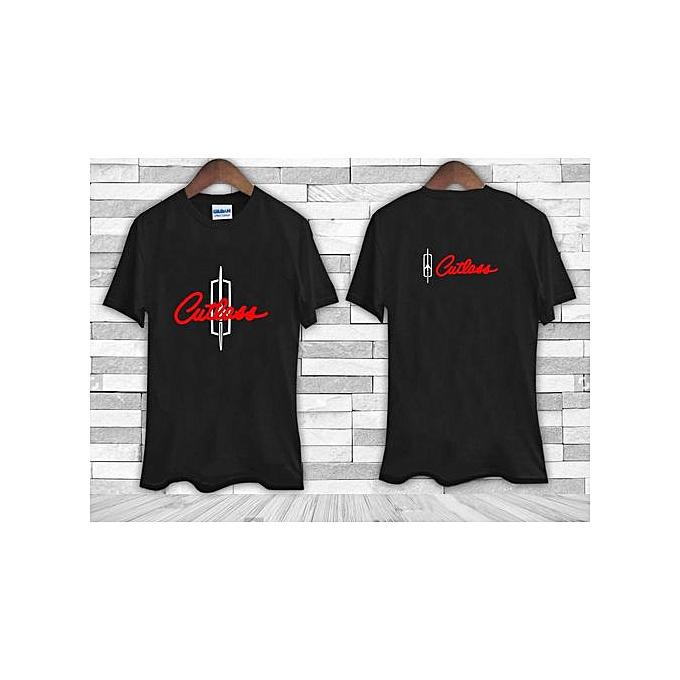 43b82ed7 Fashion Oldsmobile CUTLASS Logo Car Emblem Black Tee Shirt TShirt ...