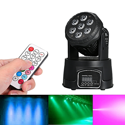 AC100-240V 105W 7LED RGBW Stage Light Lighting Fixture with Remote Control  Supported DMX512/ Sound Activated/ Auto-run/ Master-slave Flexible Working