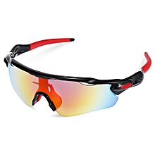 Windproof Cycling Glasses With Polarized TAC Lens Set - Black