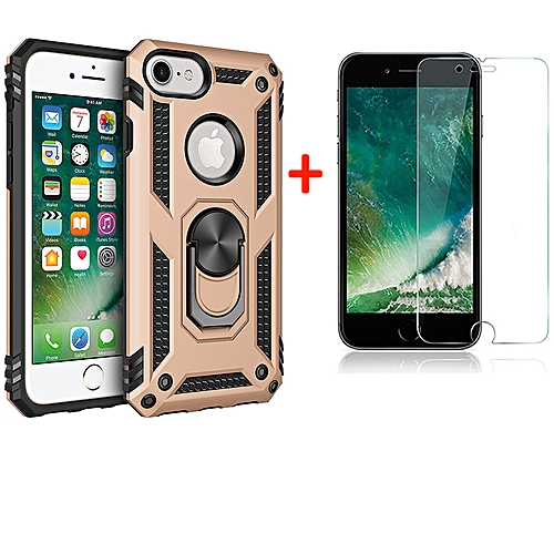 free shipping 4c158 413da Iphone 6/6S Case with Tempered Glass Screen Protector
