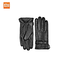 Mijia Qimian Lambskin Gloves for Women Men Motorcycle Winter Autumn Thicken Warm Touch Screen Soft Spanish Raw Gloves for Cycling Driving Hiking Skiing
