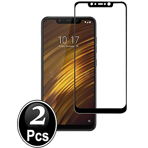 [2 Pack] for XiaoMi Pocophone F1 Screen Protector, Premium Tempered Shatterproof Glass Screen Protector Film For Xiaomi Pocophone F1