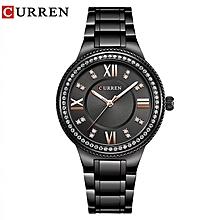 Ladies Calendar Water Resistant Stainless steel Fashion Wrist Watch